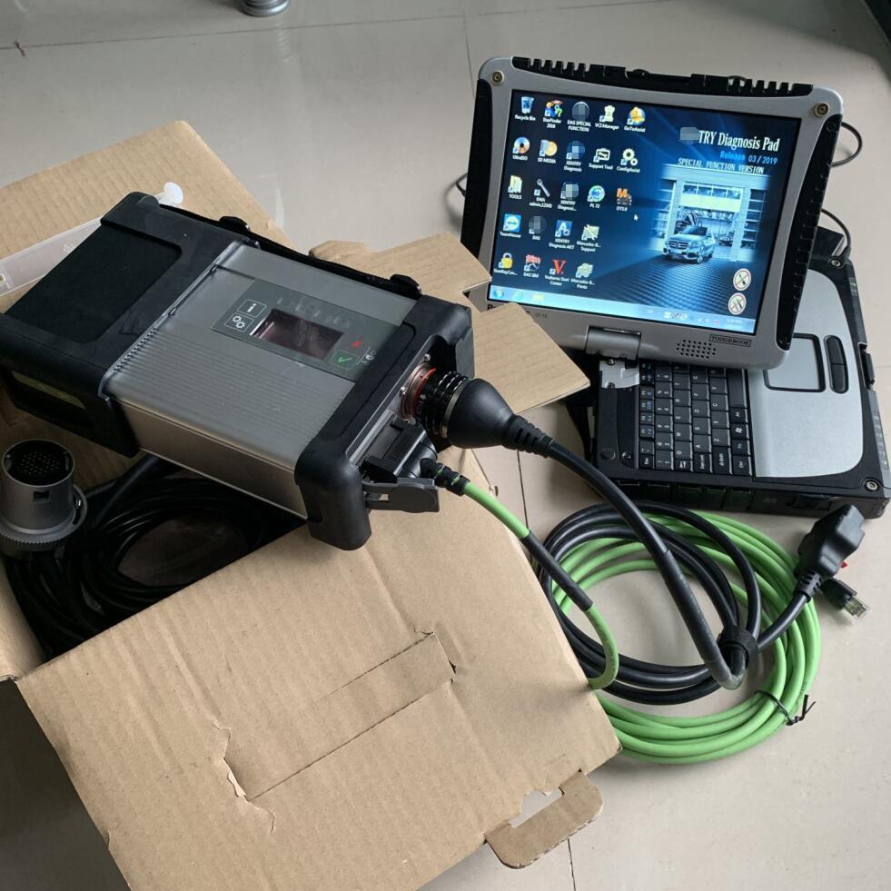 [해외]Best Quality MB Star C5 Laptop cf19 Newest V2019.03 Software Vediamo 5.01/DTS Mb Star C5 SD Connect Car Diagnostic Tool/Best Quality MB Star C5 La