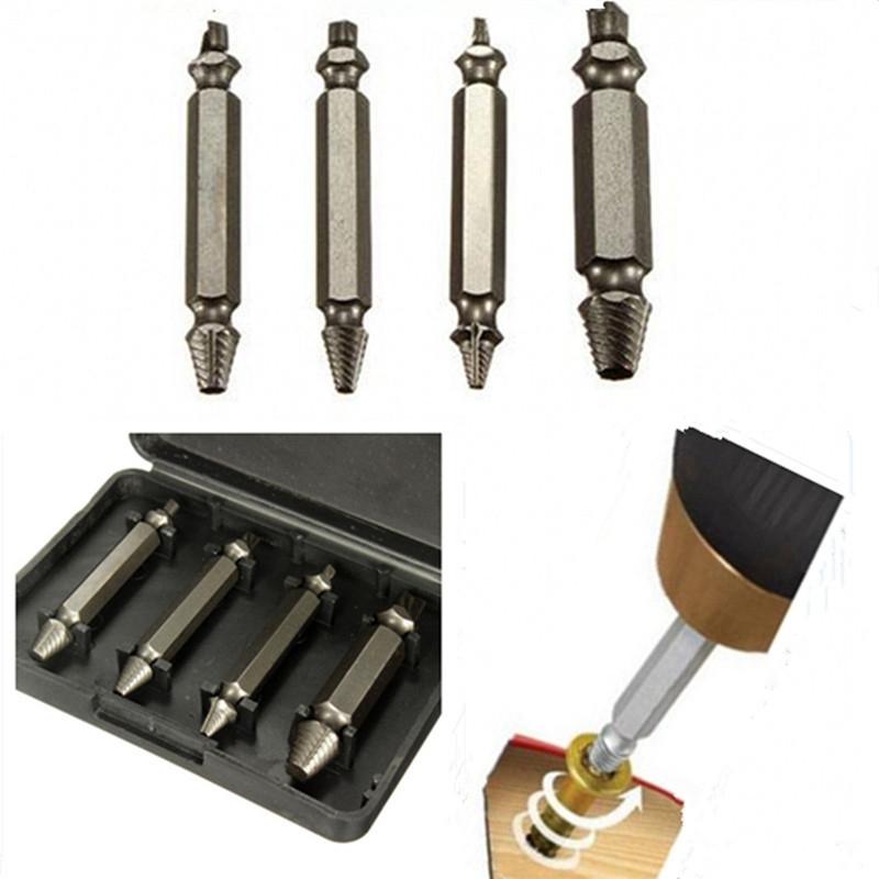 [해외]2018 New 4pcs/set Screw Extractor Drill Bits Guide Set Broken Bolt Remover Easy Out Set 5cm Long/2018 New 4pcs/set Screw Extractor Drill Bits Guid