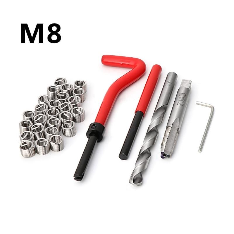 [해외]M8 Car Pro Coil Drill Tool Metric Thread Repair Insert 30pcs Kit for Helicoil Car Repair Tools Coarse Crowbar/M8 Car Pro Coil Drill Tool Metric Th