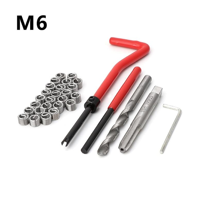 [해외]30Pcs M6 Thread Repair Insert Kit Auto Repair Hand Tool Set For Car Repairing/30Pcs M6 Thread Repair Insert Kit Auto Repair Hand Tool Set For Car