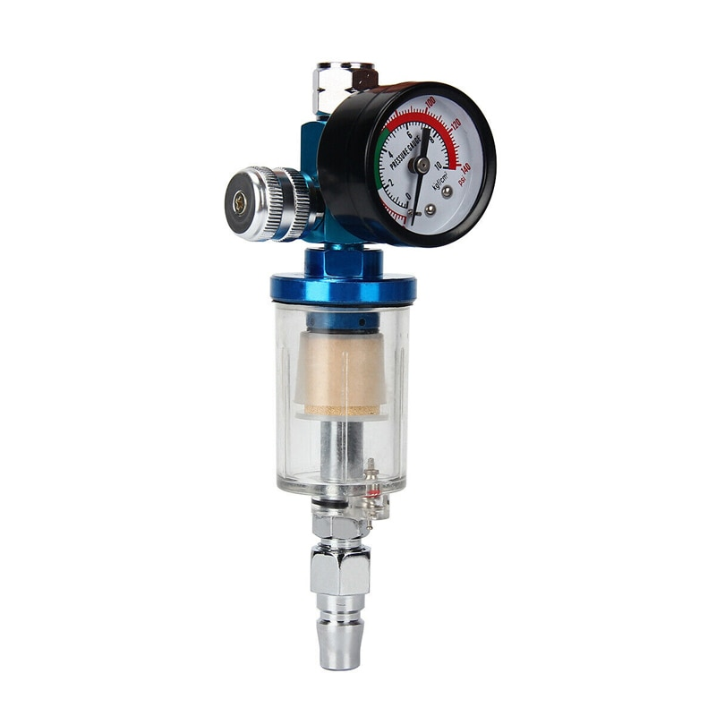 [해외]1PCS Spray Paint Gun Kit Air Regulator Gauge & In-line Air Oil Water Separator Filter Pneumatic Pressure Regulating Valve/1PCS Spray Paint Gun