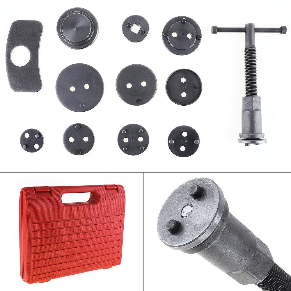 [해외]12pcs/Set Universal Car Disc Brake Caliper Wind Back Brake Piston Compressor Tool Kit For Most Automobiles Garage Repair Tools/12pcs/Set Universal
