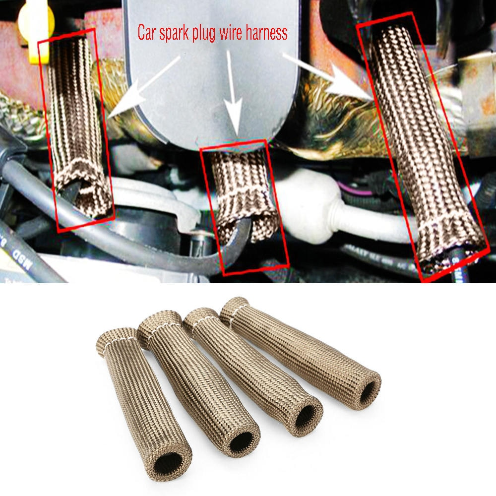 [해외]4PCS 2500A° Spark Plug Wire Boots Protector Sleeve Heat Shield Cover For LS1/LS2/LS4/6 Car Spark Plug Harness Protector/4PCS 2500A° Spark Plug Wir