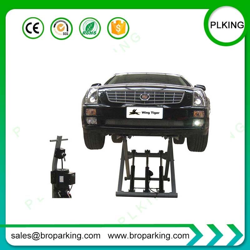 [해외]2.7 tons Movable on Ground Portable Hydraulic Scissor Car Lift/2.7 tons Movable on Ground Portable Hydraulic Scissor Car Lift