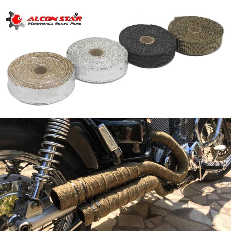 [해외]Alconstar- 5M Motorcycles Exhaust Front Pipe Anti-hot Wrap Heat Manifold Insulation Cloth Roll Header Wrap Resistant Downpipe/Alconstar- 5M Motorc