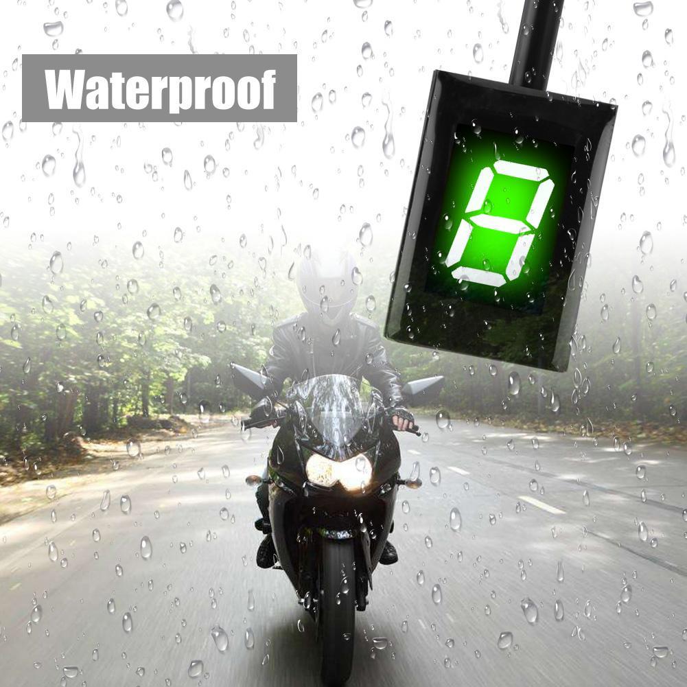 오토바이 12 v ecu 플러그 마운트 1-6 레벨 속도 디지털 그린 기어 표시기 시프트 레버 디스플레이 어셈블리 가와사키 액세서리
