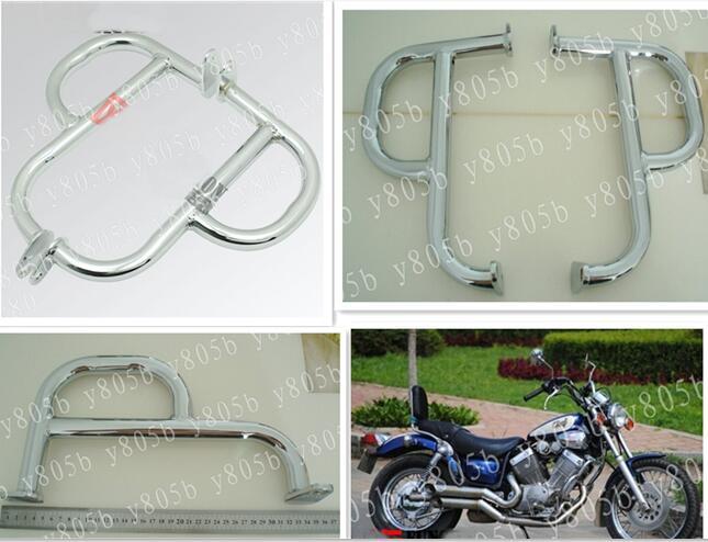 [해외]New Chrome Metal Engine Guard Crash Bar For Yamaha Virago XV400 XV 535 400 535 All Years/New Chrome Metal Engine Guard Crash Bar For Yamaha Virago
