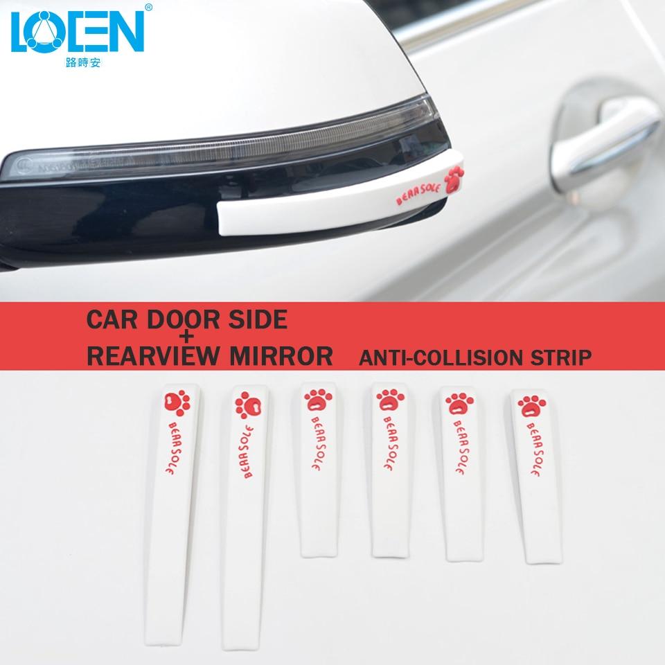 [해외]Car Door Edge Guards Trim Molding Protection Strip Car Rearview Scratch Protector Bear Paw Car Door Side Edge Protection Guards/Car Door Edge Guar