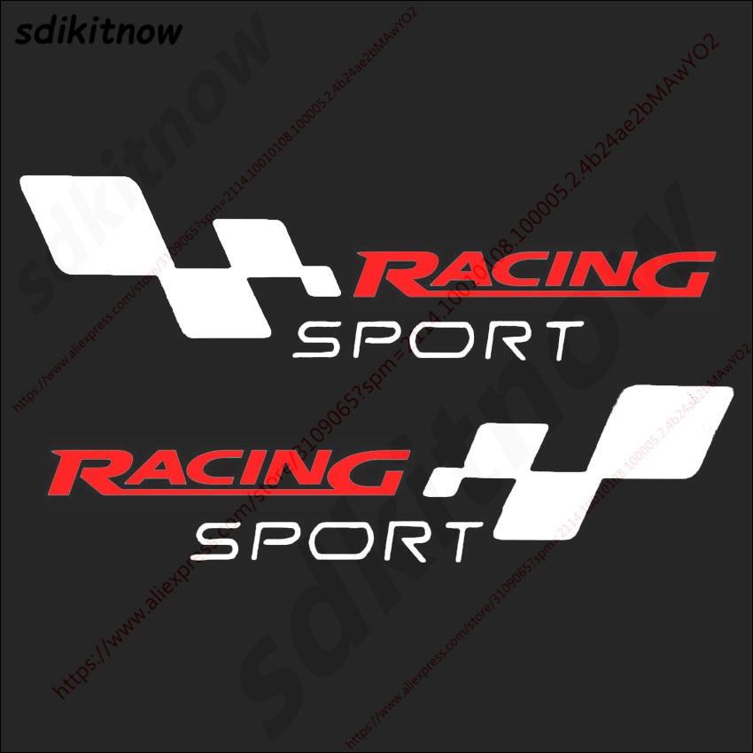 [해외]22x6cm 2pcs Car Body Windows Sports Racing RS ST PVC Sticker Decal Styling For FORD FOCUS 2 3 Mondeo Fiesta Kuga MK Mustang F150/22x6cm 2pcs Car B