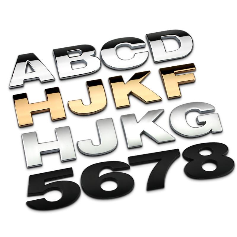 [해외]DIY Number Stickers Letters Emblem Decal Creative Car Badge for Audi Skoda Ford Buick Jeep Nissan Land Rover Car Accessories /DIY Number Stickers