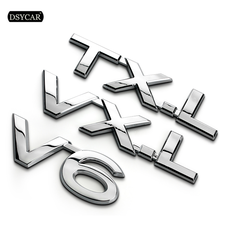 [해외]Dsycar 1Pcs 3D Metal TXL VXL VX V6 Car Side Fender Rear Trunk Emblem Badge Sticker Decals for motorcycle car Prado Car Styling/Dsycar 1Pcs 3D Meta