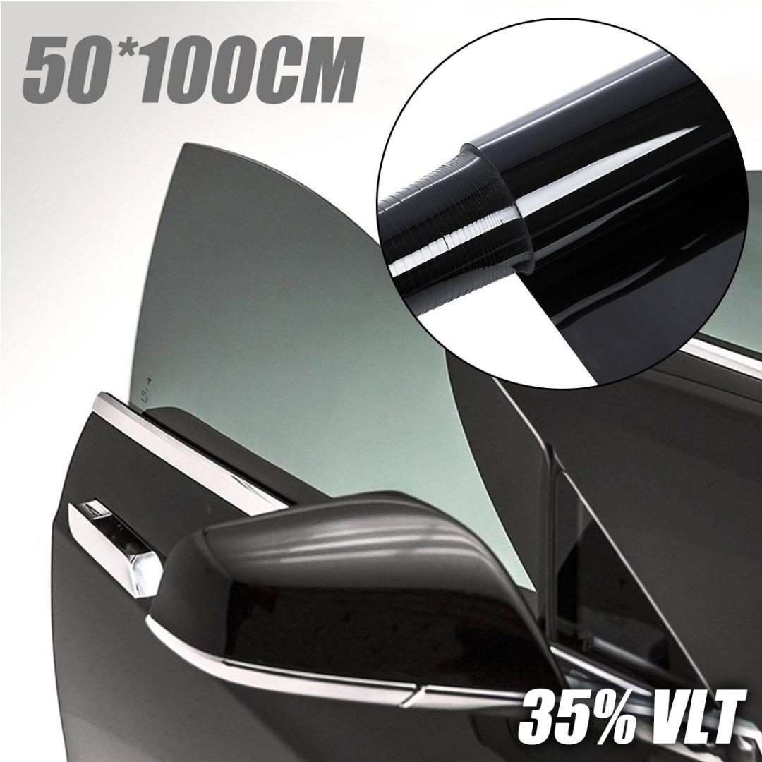 50x100cm 검은 차 창 색조 필름 유리 vlt 35% 롤 자동 suv 하우스 상업 태양 보호 여름