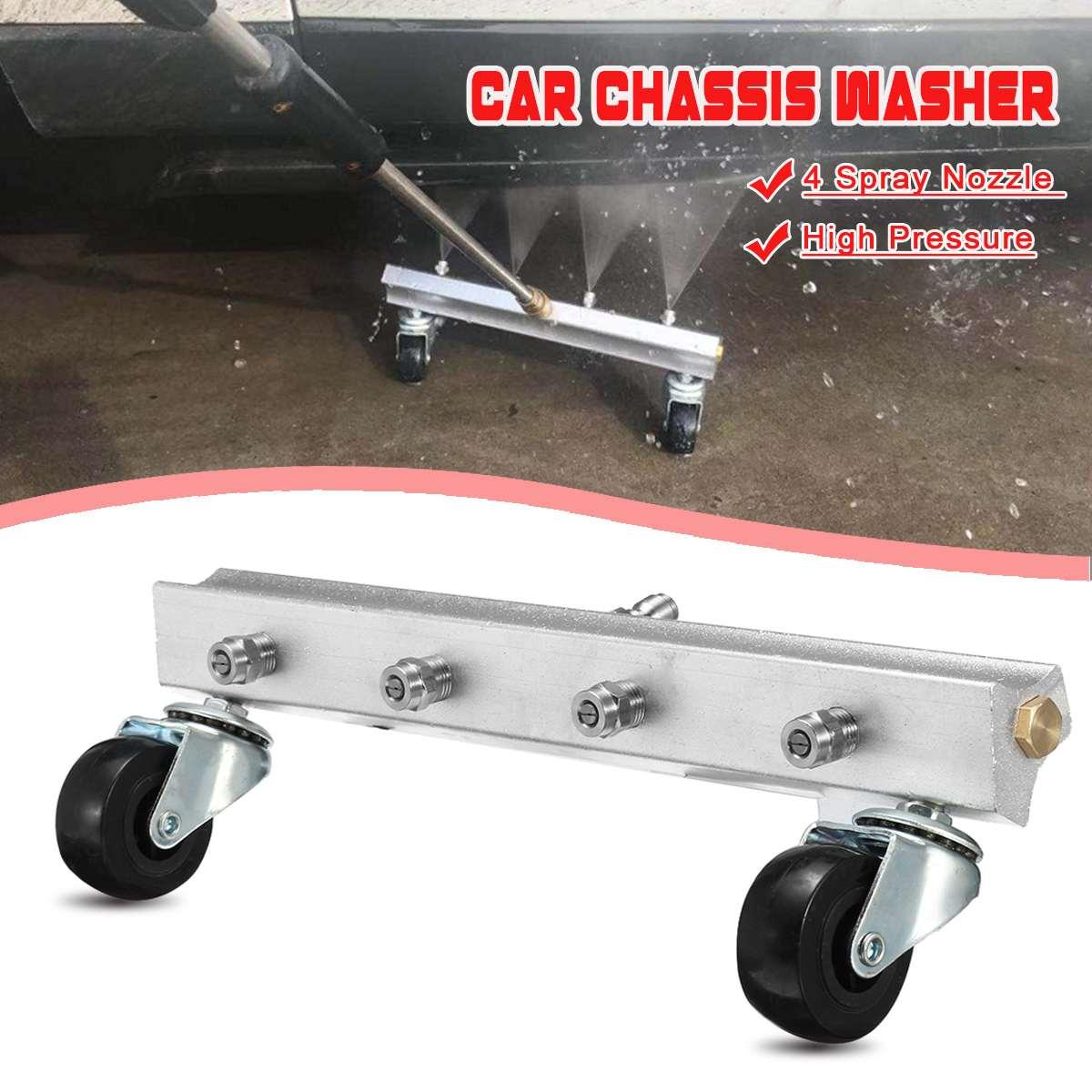 [해외]High Pressure Washer Car Under Body Chassis Power Washer Car Washing Machine 4 Spray Nozzle Cleaner Kit for 1/4\