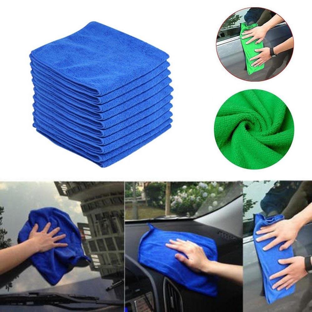 [해외]10PC Blue Car Cleaning Detailing Mirofiber Soft Polish Cloths Towel l0401/10PC Blue Car Cleaning Detailing Mirofiber Soft Polish Cloths Towel l040