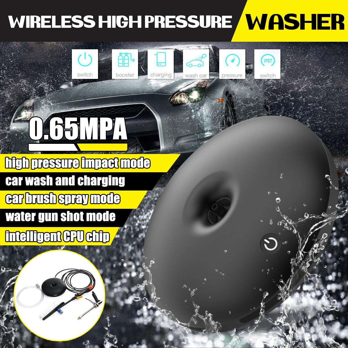 [해외]High Pressure Wireless Car Washer Water Guns Power Washing Machine USB Mobile Power Bank Car Washing Accessories Cleaning Tools/High Pressure Wire