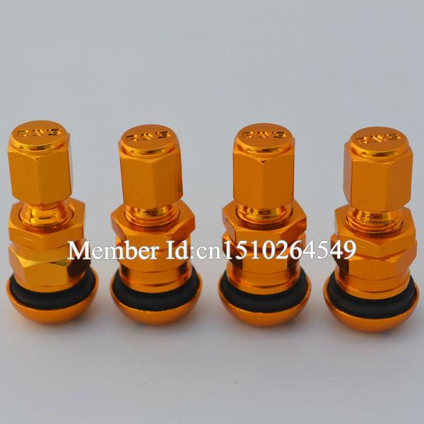 [해외]단조 알루미늄 밸브 캡 레이스 밸브 캡 휠 림 유니버설 골드 색상 줄기/Forged Aluminum Valve Cap Rays Valve Stem Caps Wheel Rims Universal Gold Color
