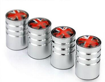 [해외]X1의 경우 4 개 자동차 영국 / 영국 플래그, A4 범용 자동차 휠 타이어 밸브 에어 커버 캡 줄기/4 pcs car UK/United Kingdom flag For X1 , A4 Universal Car  Wheel Tire Valve Stem Air Ca