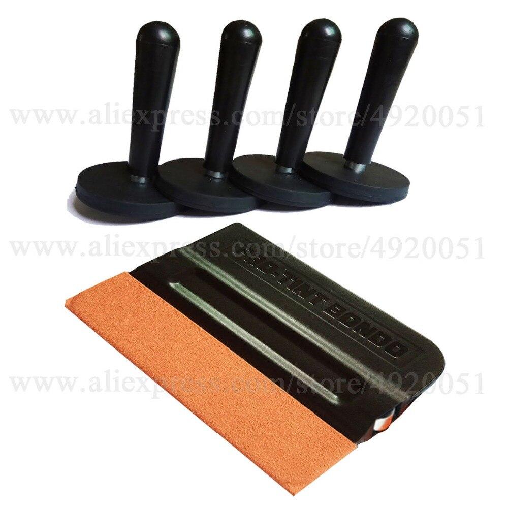 [해외]4PCS Magnetic Holders 1PC Suede Edge Scraper Car Wrapping Installation Tool Kit Vinyl Wrap Squeegee Solar Film Fixing Sucker K32/4PCS Magnetic Hol