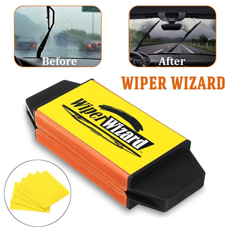[해외]Hot 12.5X4.8cm Car Wiper Wizard Blade Restorer5pcs Wizard Wipes Wiper Cleaning Brush Van Windscreen Cleaner Car-Styling/Hot 12.5X4.8cm Car Wiper W