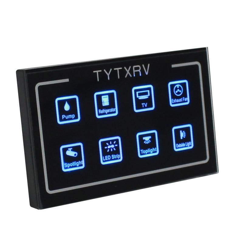 [해외]터치 컨트롤 패널 캐러밴 액세서리 12V 캠핑카 모터 홈 제어 시스템/터치 컨트롤 패널 캐러밴 액세서리 12V 캠핑카 모터 홈 제어 시스템