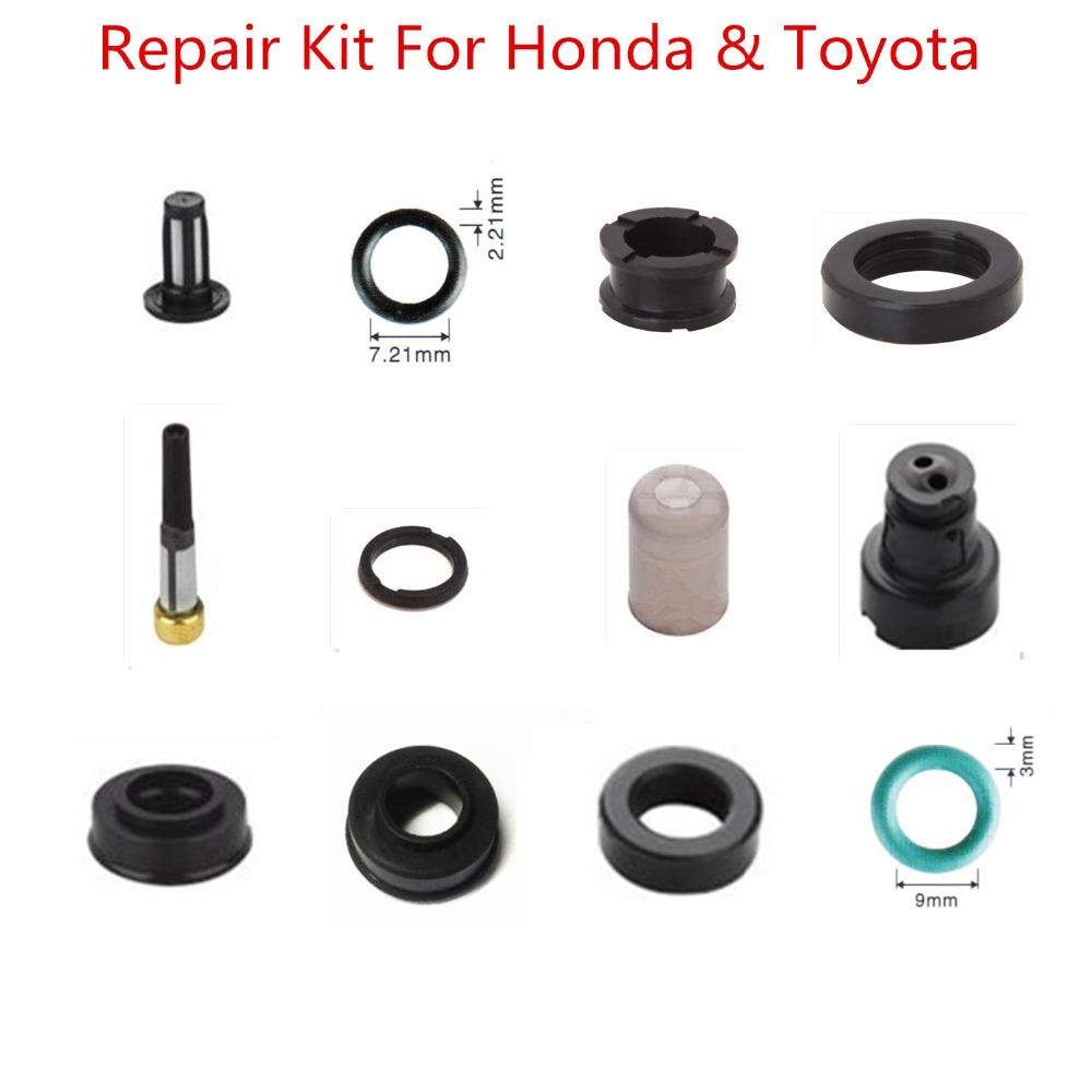 [해외]Toyota 용 혼다 필터 핀틀 캡 절연체 orings 연료 인젝터 서비스 키트 용 140pieces 자동차 부품 연료 인젝터 수리 키트/140pieces auto part fuel injector repair kit for honda filter pintle