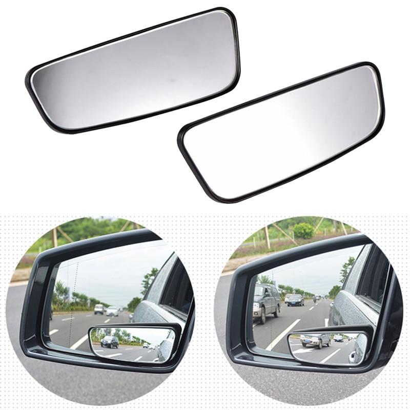 [해외]2 Pcs 자동차 거울 360 학위 와이드 앵글 볼록 스팟 미러 직사각형 표면 보조 후면보기 조절 미러/2 Pcs 자동차 거울 360 학위 와이드 앵글 볼록 스팟 미러 직사각형 표면 보조 후면보기 조절 미러