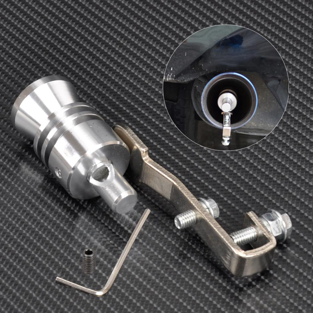 [해외]실버 자동차 터보 사운드 휘슬 머플러 배기 파이프 자동 블로우 오프 밸브 시뮬레이터 L 사이즈 CA01988/Silver Car Turbo Sound Whistle Muffler Exhaust Pipe Auto Blow-off Valve Simulator L S